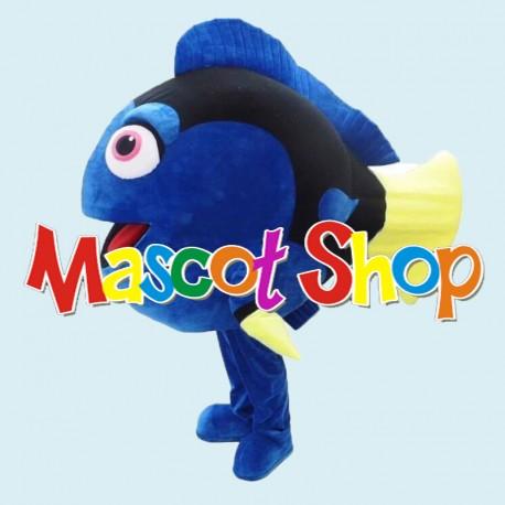 Mascotte Pesce Blu Economic
